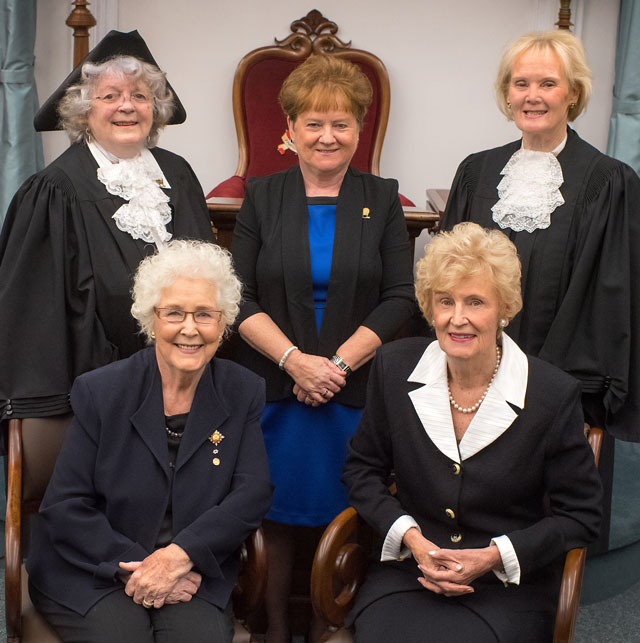 PEI Famous Five group photo, 2018