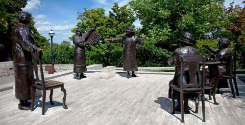 Famous Five monument on Parliament Hill, Ottawa