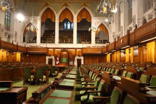 Interior chamber of House of Commons, Ottawa, PEI