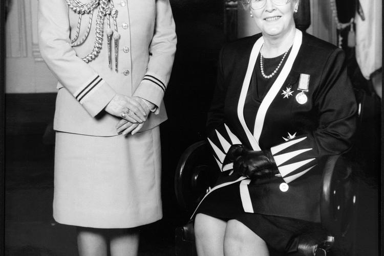Famous 5: Aide-de-camp and Hon. Marion L. Reid