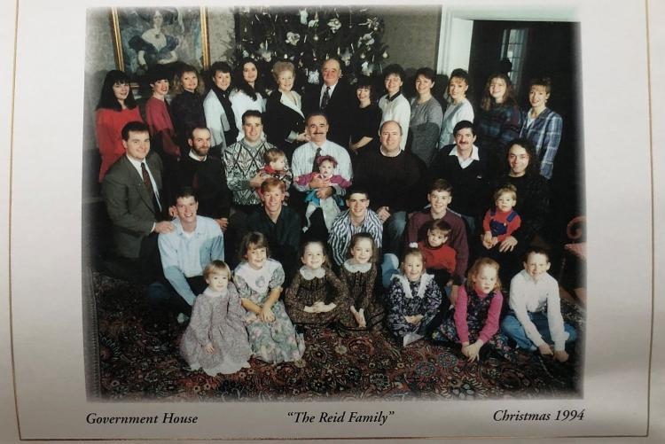 Image of the Reid Family from Government House Christmas card, 1994
