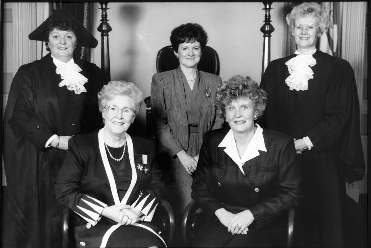 Black and white photo of PEI's famous 5
