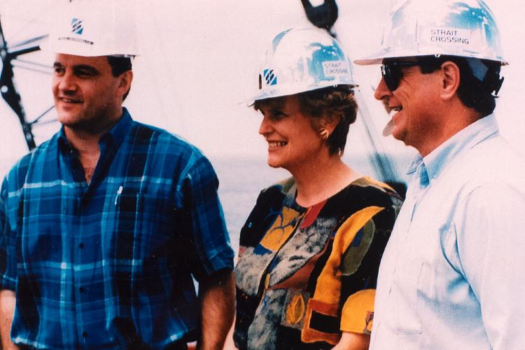 Catherine Callbeck with Strait Crossing officials