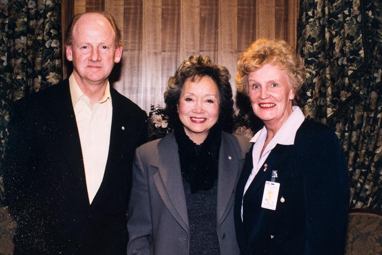 Catherine with the Rt. Hon. Adrienne Clarkson, Governor General of Canada (1999-2005) and her husband John Ralston Saul
