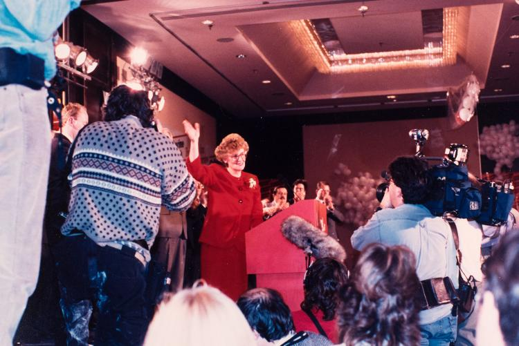 Catherine after becoming leader of the Liberal Party of PEI and PEI's first woman Premier