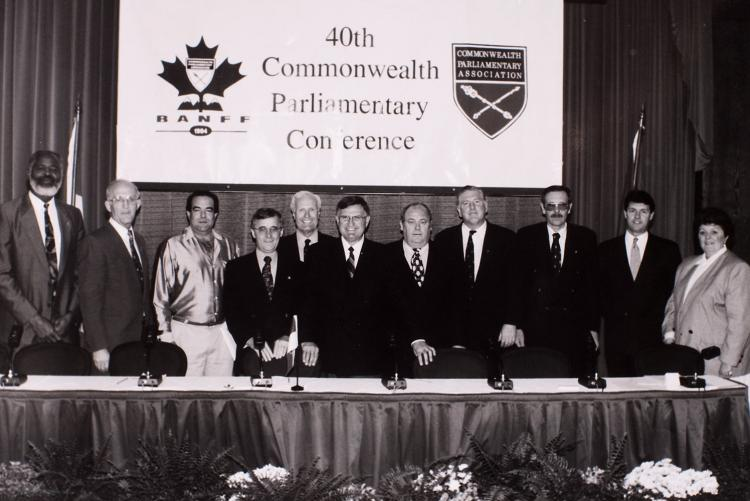Group photo at 40th Commonwealth Conference, Banff