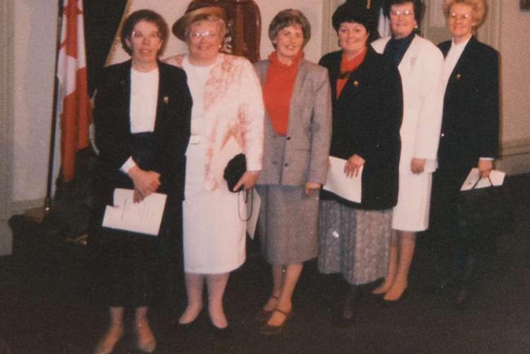Group of women on opening day of Legislative Assembly, March 1992