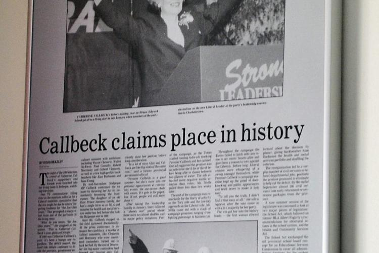 Image of framed copy of the Guardian newspaper, 1994
