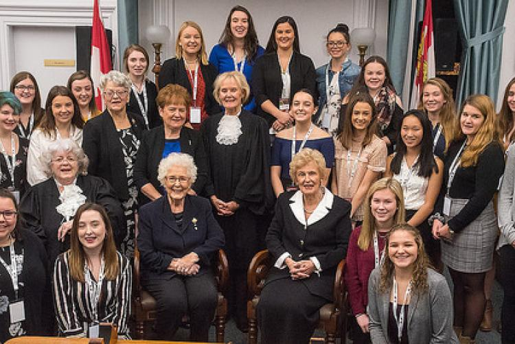 Group photo of the UN International Day of the Girl Child event held in PEI event