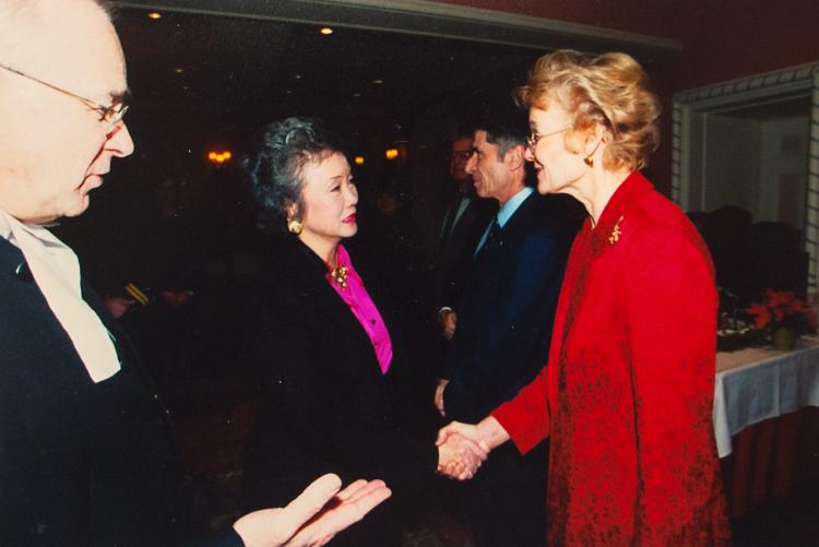 Hubley with Governor General Adrienne Clarkson and Speaker of the Senate Dan Hays