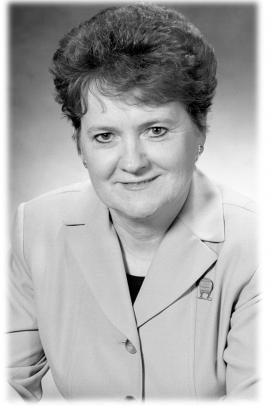 Black and white portrait image of Pat Mella