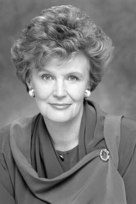 Black and white portrait image of Catherine Callbeck