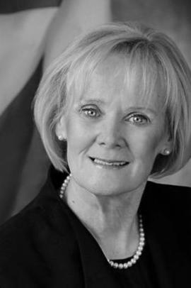 Black and white portrait image of Libbe Hubley - Senate of Canada