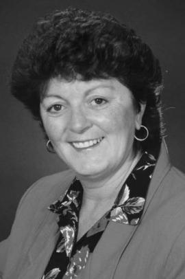 Black and white image of Nancy Guptill